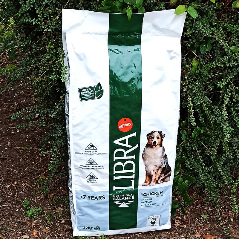Libra Dog Nourriture Adult +7 Ans 12 kg